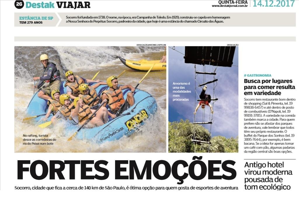 Fortes Emoções! Turismo de Aventura no jornal Destak.