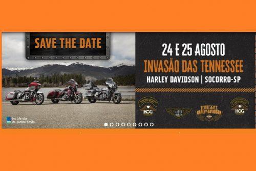 INVASÃO DAS TENNESSEE – HARLEY DAVIDSON – 24 E 25 DE AGOSTO